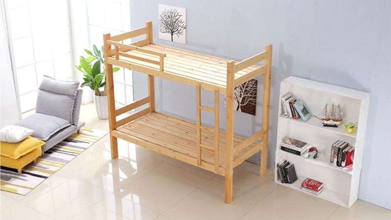 上下床松木成人双层木床实木上下铺 公寓高低床厂家批发1.2定制