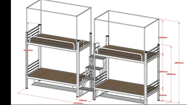 学生双层床的尺寸一般是这样的