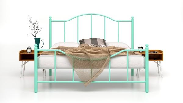 现代简约公寓铁艺床双人1.5米宿舍1.8米民宿客栈酒店家用单层铁床