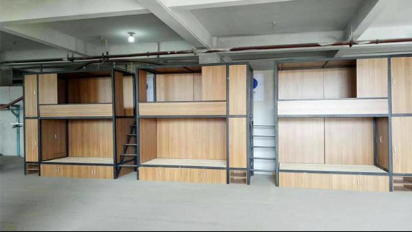 宿舍高低铁床 上下铺插口式成人带柜子鞋架双层铁床上下铺