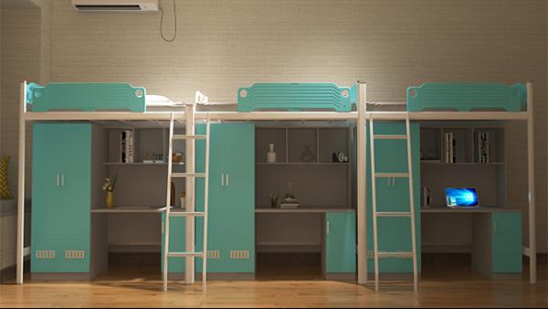公寓床组合多功能钢制员工大学生宿舍公寓床铁架床高低床