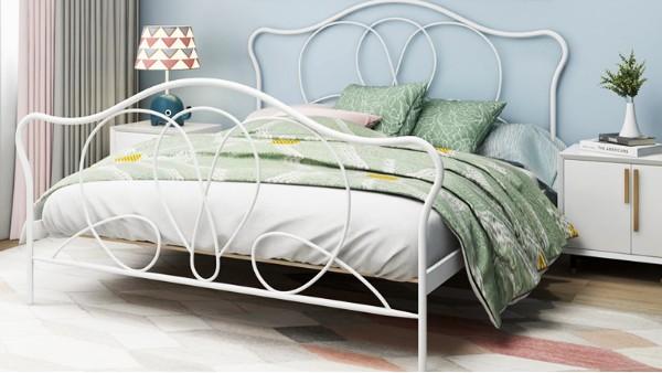 光彩家具厂家批发现代简约单层铁艺床铁架床1.5米1.8米