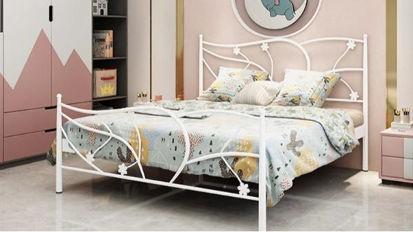 厂家现代简约单层铁艺床铁架床1.5米1.8米 公寓出租屋单人双人床