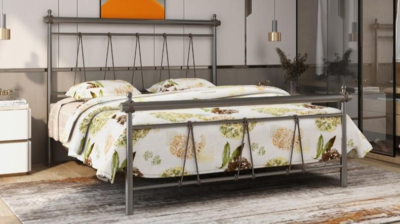 铁艺床铁架床1.5米1.8米 公寓出租屋单人双人床宿舍