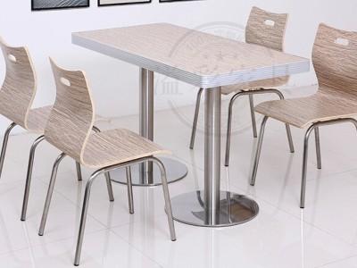 厂家直销加厚 快餐桌椅组合 奶茶店小吃店 肯德基桌椅组合定做