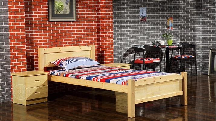 直销 出租房松木床单层单人床 员工宿舍实木床批发订做