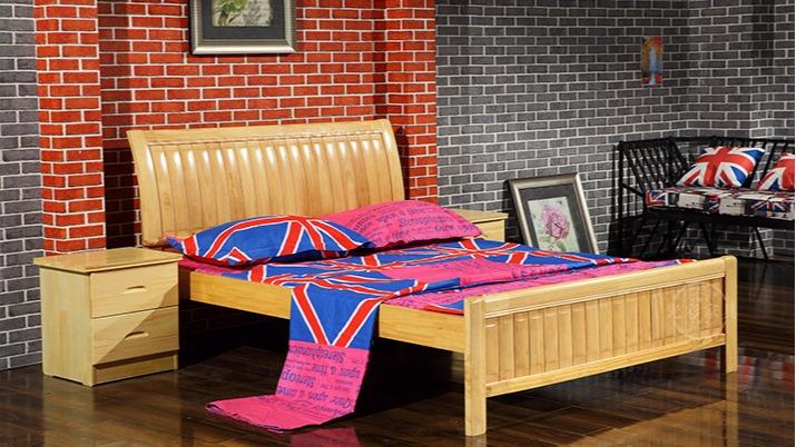 江苏厂家直销 出租房松木床单层单人床 员工宿舍实木床批发