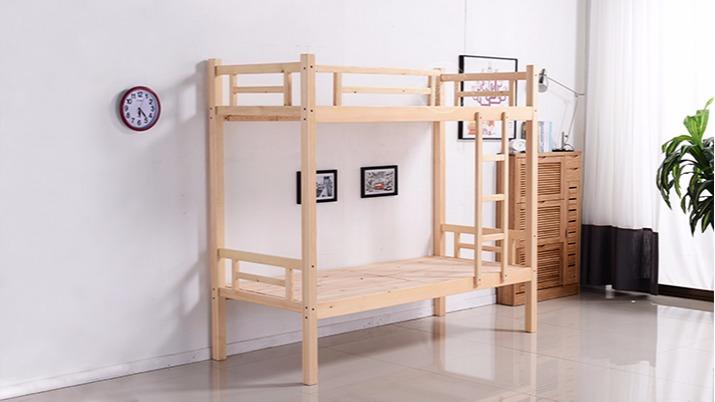 学校学生青年宿舍上下木床成人上下铺 双层全实木床高低床批发