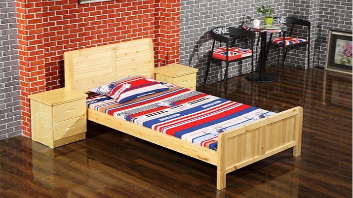 江苏苏州厂家直销单层松一层木床 学生员工宿舍床 双人松木床批发