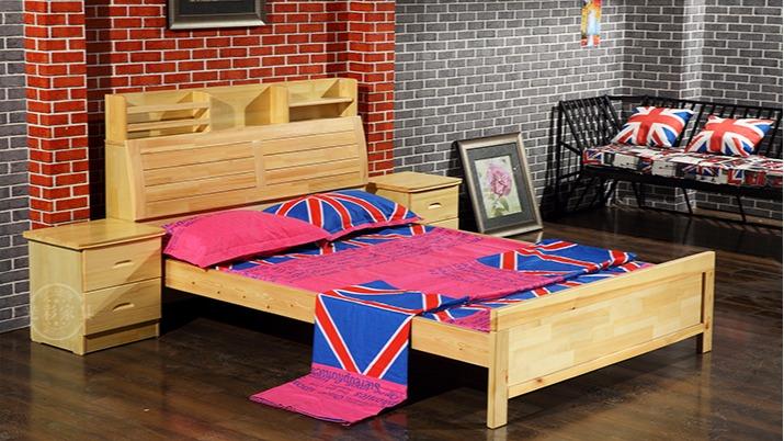 厂家直销 出租房松木床单层单人床 员工宿舍实木床批发订做