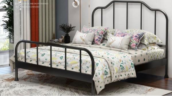 单层铁艺床铁架床1.5米1.8米 公寓出租屋单人双人床宿舍