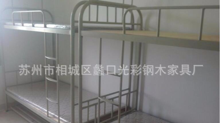 工厂直销宿舍双层床 高低铺 上下床 双人铁床 铁架床 批发
