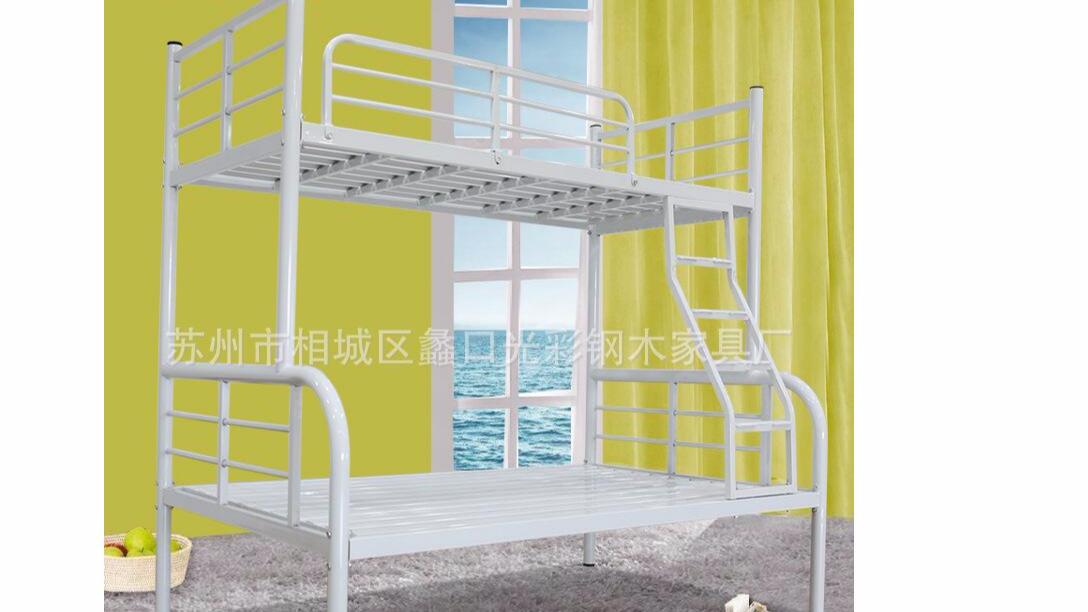 双层铁架床上下铺家用子母公寓床员工学生宿舍双人铁床厂家批发