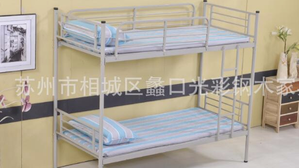 上下铺铁架床员工床 工厂员工宿舍高低床 铁床双层高低铺厂家