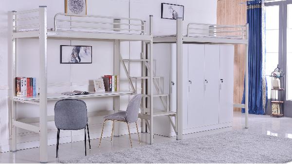 连体公寓床(带桌子衣柜)
