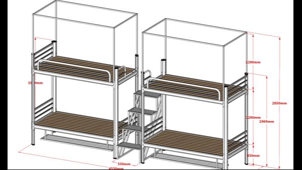 上下铺双层床尺寸