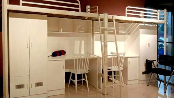 卡扣式公寓床的快速安装方法