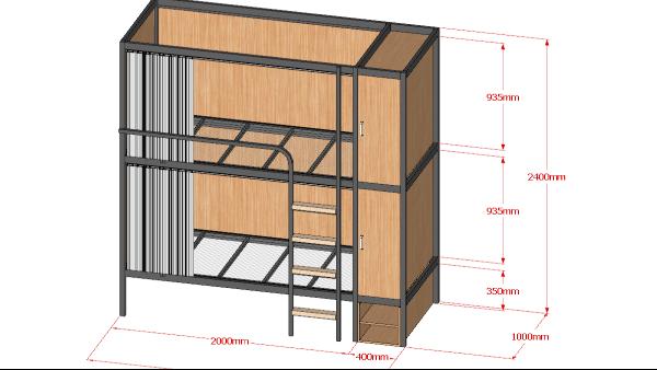 双层学生公寓床的那些构造