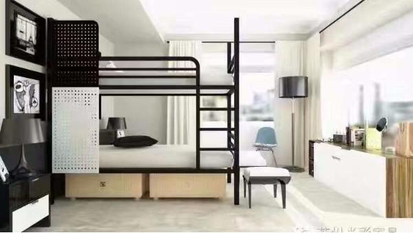 上下铺铁床出口要品质,当然首选光彩家具