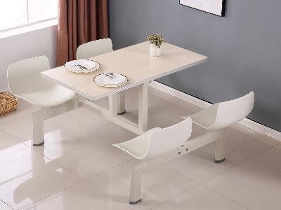镀锌管连体餐桌
