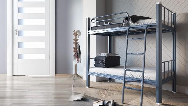 双层公寓床上下铺铁床学生床宿舍床员工床高架床双人床