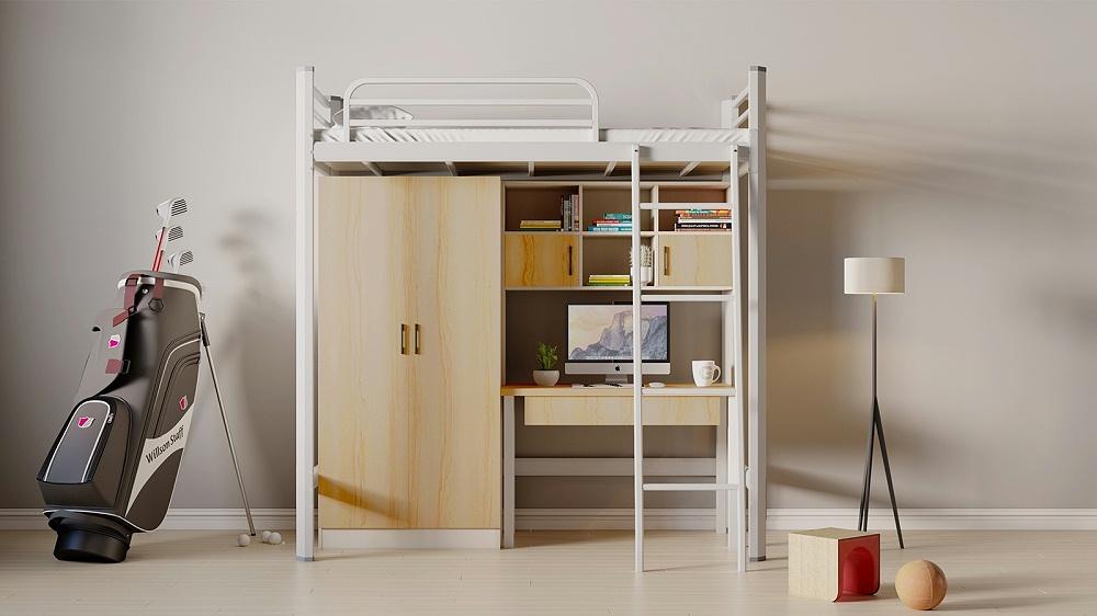 上床下桌多功能公寓床办公休息床大学生宿舍床员工宿舍床