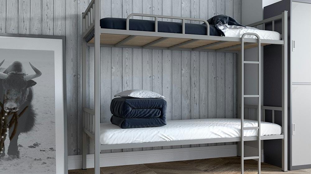 铁架床双层床员工宿舍床工地床高架床上下铺铁床