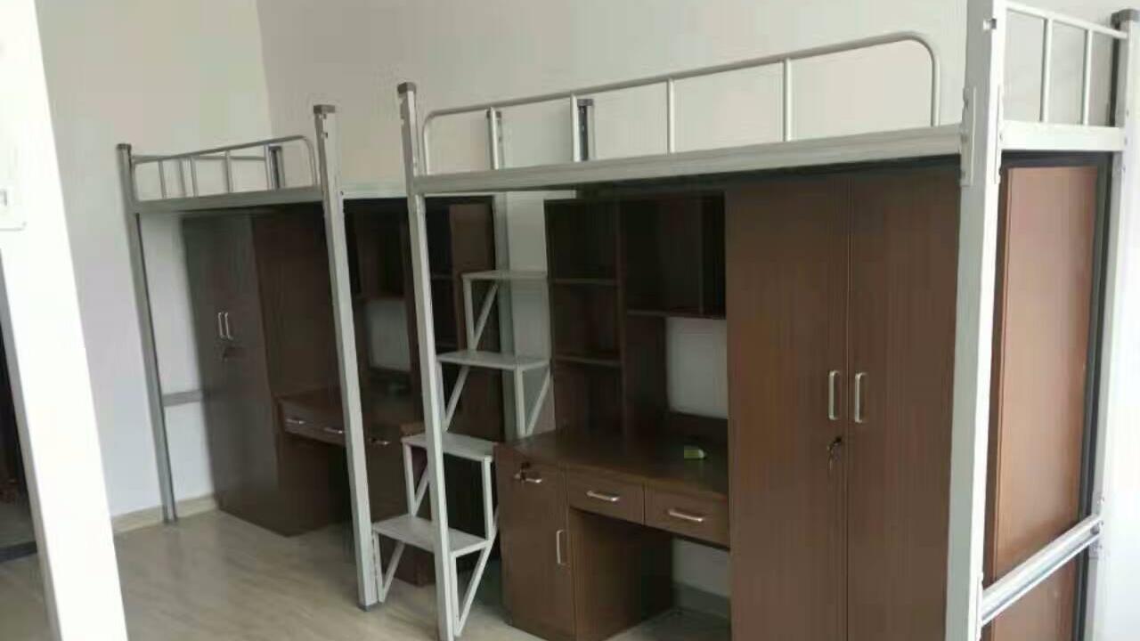 小房间的两层床,二层床,学生床的尺寸标准说明 学生床的结构要求