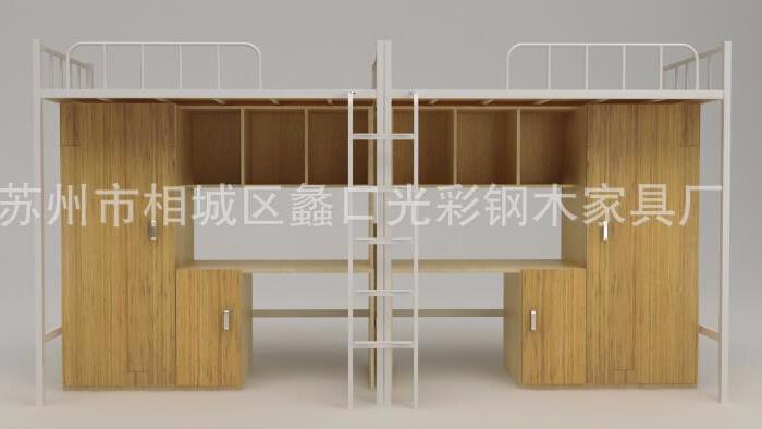 江苏苏州铁床厂家生产 上下铺铁床系列 单人工厂铁床批发
