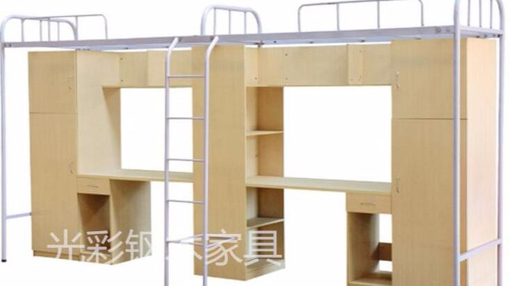工厂直销公寓铁床 学生上下床 员工宿舍高低床 柜子组合铁床批发