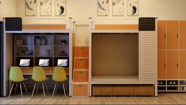 大学生公寓床上床下桌组合床钢制高低学校宿舍连体公寓床