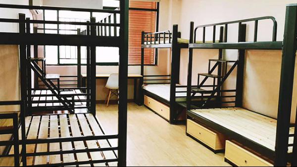 职工床高低双人床上下双层铁艺床员工学生铁架宿舍上下铺
