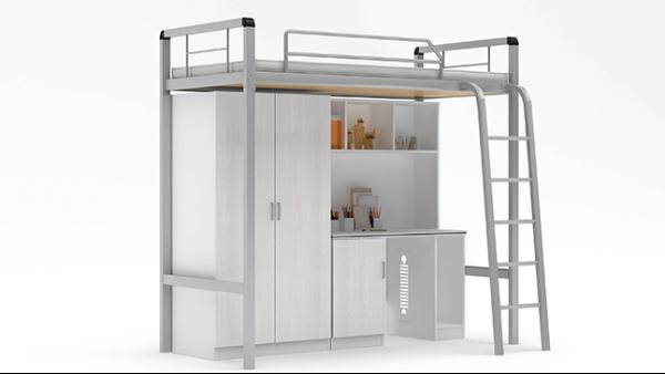 学校公寓床组合宿舍上床下桌带衣柜书桌大学生连体公寓床
