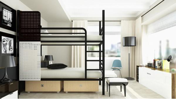 厂家批发工厂双层职员上下床成双人白领高低公寓床学校宿舍铁架床