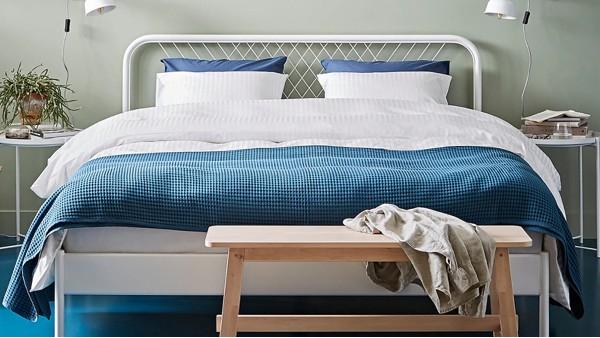 欧式现代简约网红铁床家用女孩单人铁架床1.5米1.8米双人厚铁艺床