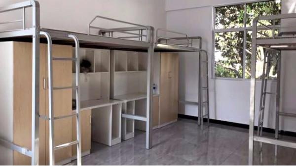 镀锌钢管的学生公寓床太单调?可以用颜色搭配起来