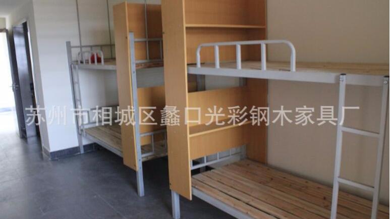 直销宿舍上下铺 员工学生铁架床上下铺床 双人铁艺床批发