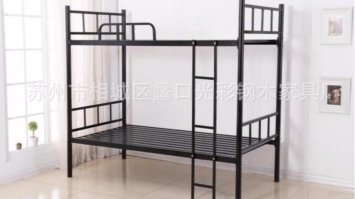 双层铁床员工宿舍 学生职工上下铁架床高低铁床 苏州厂家批发