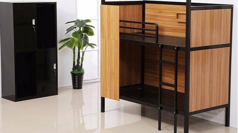 双层铁架床上下铺床学生公寓床员工宿舍双人铁床隐私密闭单人双人