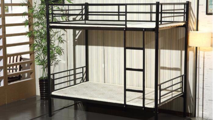 双层铁架床上下铺床学生公寓床员工宿舍家用双人铁床苏州厂家批发
