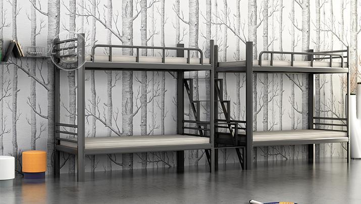 学生员工宿舍双层高低床 新型钢管铁架公寓成人学生上下铺床