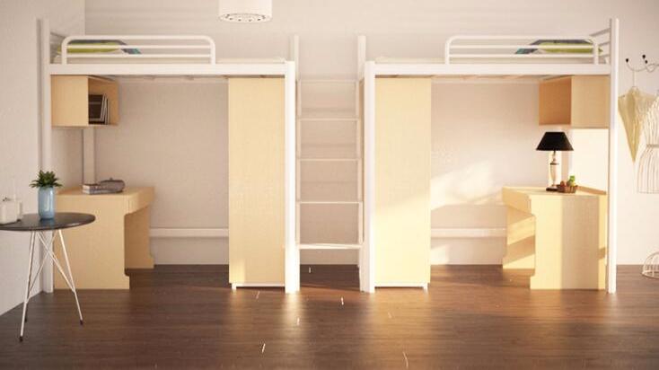 公寓家具组合定制公寓床上床下桌铁架子柜子组合出租