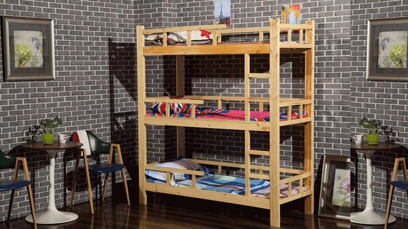 木床儿童三层床