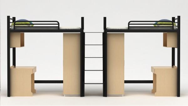 公寓家具组合定制公寓床上床下桌铁架子柜子组合出租厂家批发