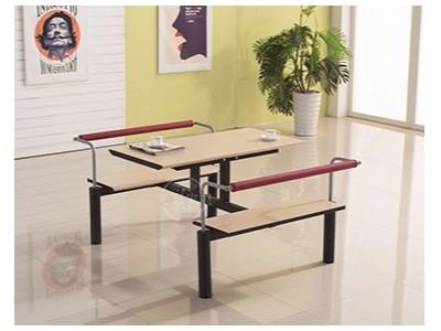 连体带靠背食堂餐桌椅