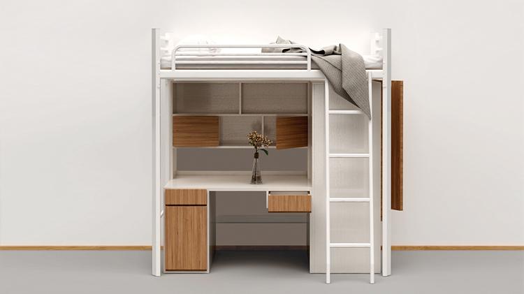 正桌侧柜公寓床