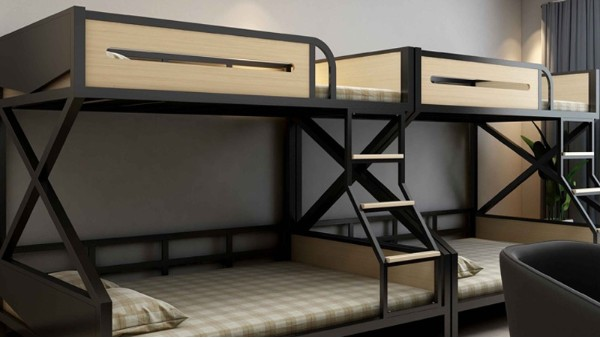 铁床上下铺高低床公寓床宿舍单人床子母床电竞房出租屋简约铁架床