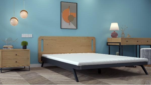 单层铁艺床公寓家具出租房床