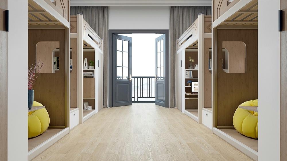 公寓床上床下桌双层铁架床床下有学习桌宿舍床