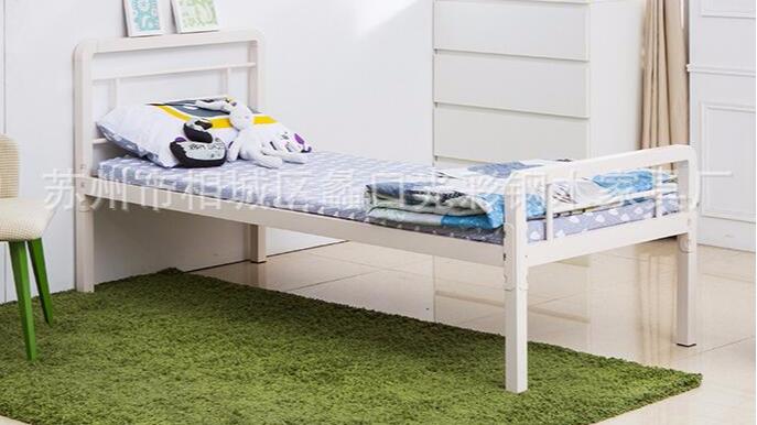 单层单人铁架床儿童铁床员工宿舍单层单人双人床免螺丝全挂扣安装